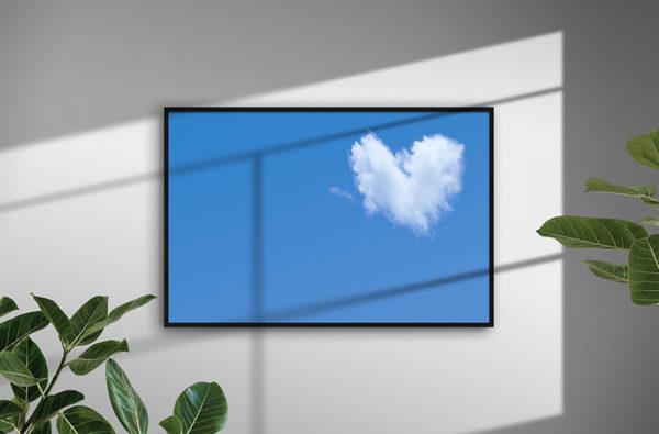 Ramexempel: 0035 Clouded Heart - Abstrakt unik svensk konst - Konstnär: Bengt Grönkvist
