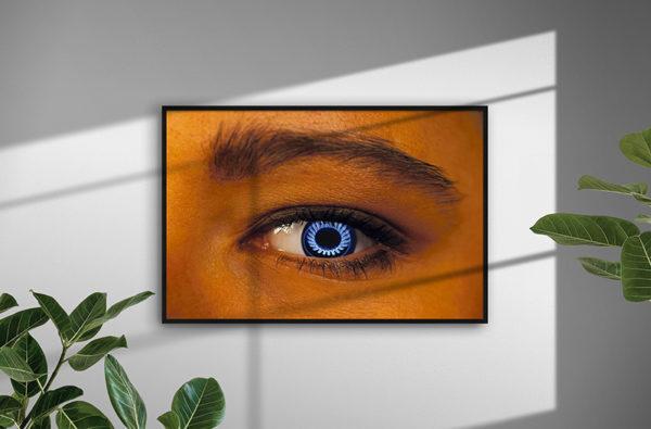 Ramexempel: 0045 Hot Eye - Abstrakt unik svensk konst - Konstnär: Bengt Grönkvist