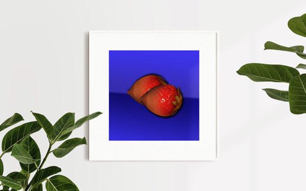 Ramexempel: 0061 Strawberry Dream - Abstrakt unik svensk konst - Konstnär: Bengt Grönkvist