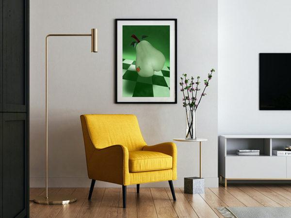 Ramexempel: 0064 Chequered Pear - Abstrakt unik svensk konst - Konstnär: Bengt Grönkvist