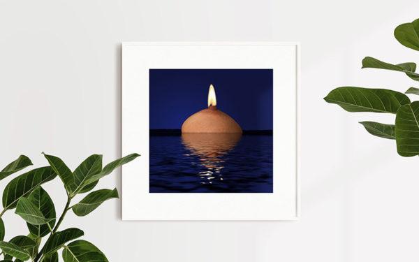 Ramexempel: 0072 - Lady Of The Lake - Abstrakt unik svensk konst - Konstnär: Bengt Grönkvist