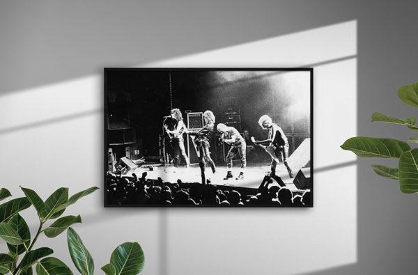 Ramexempel: Accept, Johanneshovs isstadion, Stockholm, 1983. Fotograf: Bengt Grönkvist.