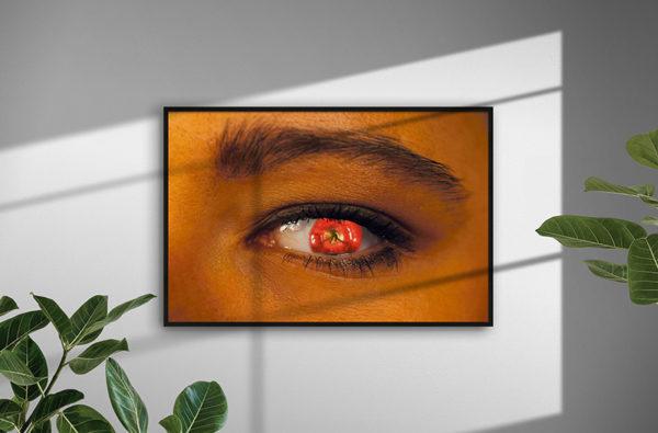 Ramexempel: 0033 Apple Eye - Abstrakt unik svensk konst - Konstnär: Bengt Grönkvist