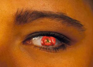 0033 Apple Eye - Abstrakt unik svensk konst - Konstnär: Bengt Grönkvist