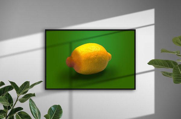 Ramexempel: 0059 Nipple Of Lemon - Abstrakt unik svensk konst - Konstnär: Bengt Grönkvist