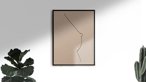 Ramexempel: 0073 - Ramexempel Lines Of Perfection - Abstrakt unik svensk konst - Konstnär: Bengt Grönkvist