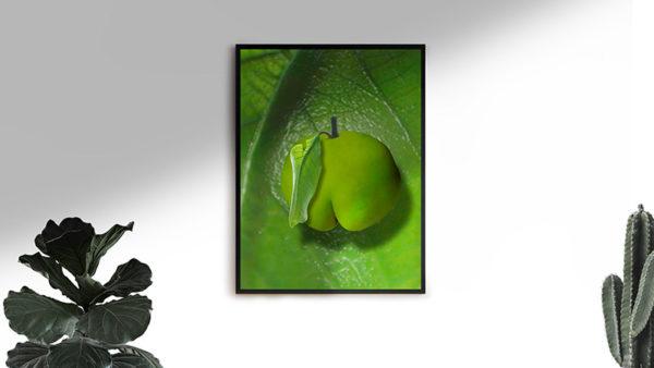 Ramexempel: 0083 Sweet Leaf - Abstrakt unik svensk konst - Ur serien Forbidden Fruit - Konstnär: Bengt Grönkvist