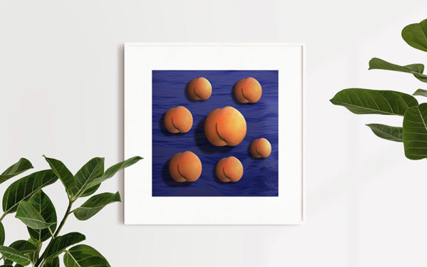 Ramexempel: 0086 - Moving To The Country - Abstrakt unik svensk konst - Ur serien Forbidden Fruit - Konstnär: Bengt Grönkvist