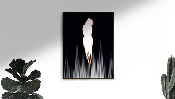 Ramexempel: 0088 Icarus - Abstrakt unik svensk konst - Konstnär: Bengt Grönkvist