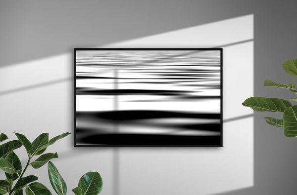 0141 Black Waves - Abstrakt unik svensk konst - Konstnär: Bengt Grönkvist