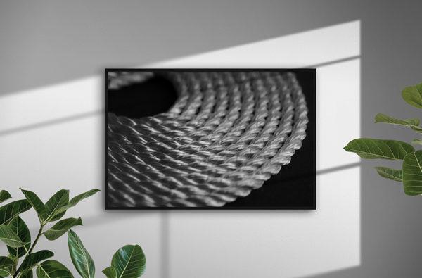 0143 Ropes - Abstrakt unik svensk konst - Konstnär: Bengt Grönkvist