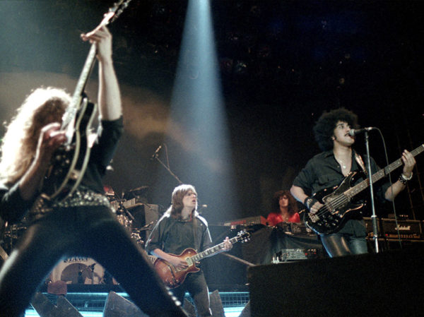 Thin Lizzy, Johanneshovs Isstadion, Stockholm, 1983 Fotograf: Bengt Grönkvist