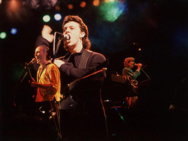 Tears for Fears, Oxford, England 1985. Roland Orzabal och Curt Smith.