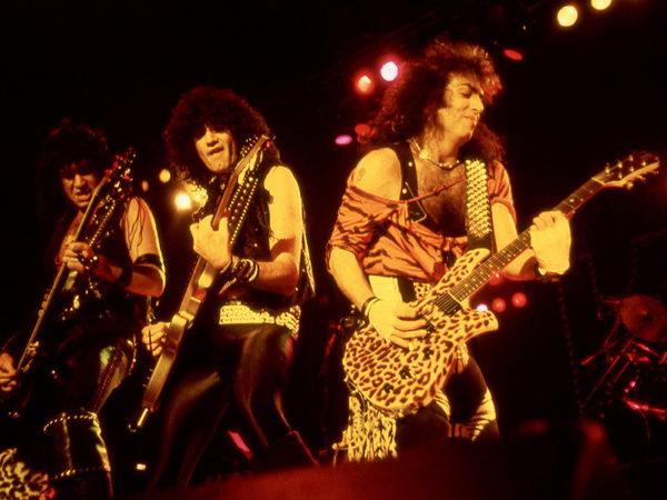 Kiss, Animalize Tour, Johanneshovs Isstadion, Stockholm 1984. Fotograf: Bengt Grönkvist.