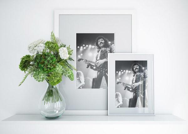 Ramexempel: Tony Iommi, Black Sabbath. Johanneshovs isstadion 1983. Fotograf: Bengt Grönkvist.