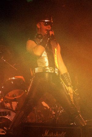 Rob Halford, Judas Priest. Johanneshovs Isstadion 1984. Fotograf: Bengt Grönkvist.